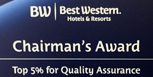 Best Western Chairmans award Best Western Wichita Airport Inn